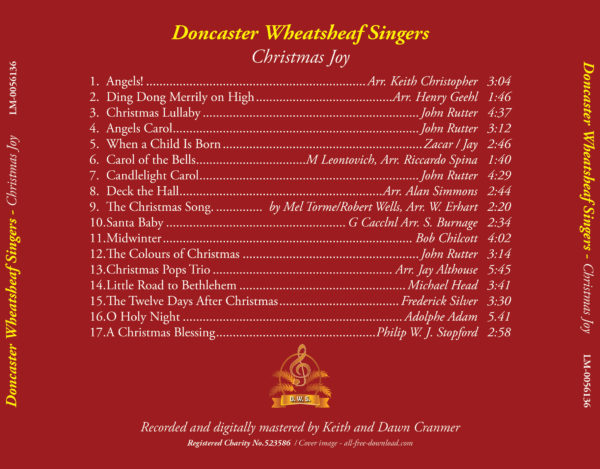 Track listing of the DWS Christmas Joy CD